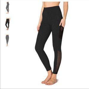Beyond Yoga Black High Waisted Mesh Leggings